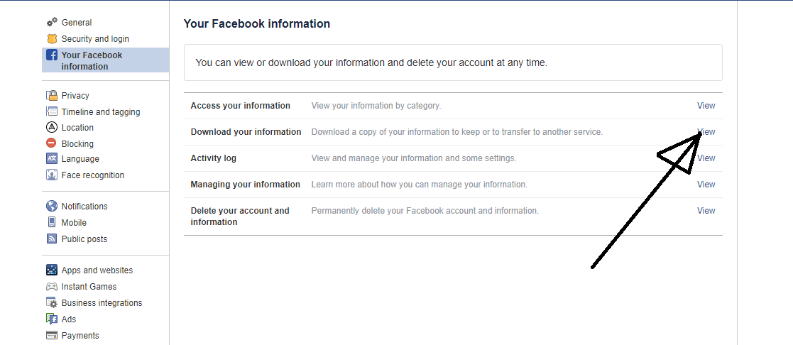 How to deactivate facebook account permanently in 2 steps download facebook information ccuart Image collections